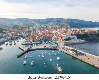 fishing town of Bermeo located at basque country, Spain