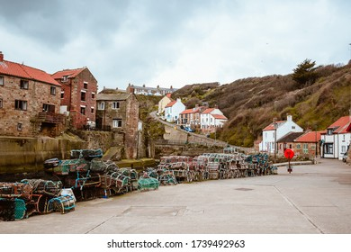 Fishing Town English Coastal Town beach Overview Landscape Village Crab Cages