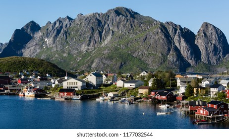 The fishing town of Reine on the Lofoten Islands, Norway.