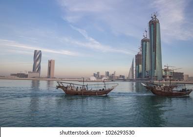 Fishing vessels in Bahrain.