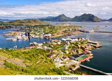 Fishing village Ballstad in Lofoten Islands, Norway