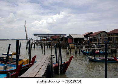 Fishing village at the cockle processing plant at Kuala Gula