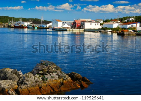 Fishing village in Fogo, Newfoundland