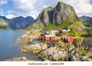 Fishing village Hamnoy, Reine, Lofoten Islands, Norway