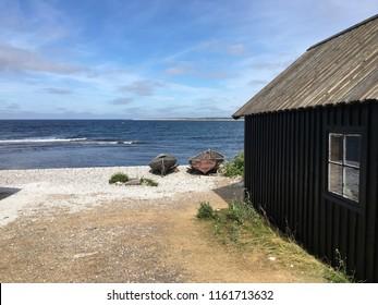 Fishing village, Helgumannen, Faro, Gotland Sweden, Baltic Sea.