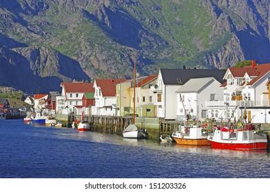 The fishing village henningsvaer