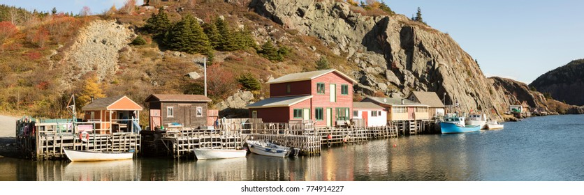 Fishing village of historic Quidi Vidi Village in St. Johns, Newfoundland, Canada.