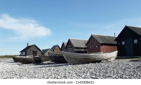 Fishing village on Gotland Island, Sweden