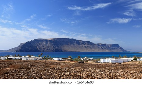 The fishing village of Pedro Barba in La Graciosa, Lanzarote