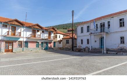 Fishing village Psarades in Prespa lake, Macedonia, Greece.
