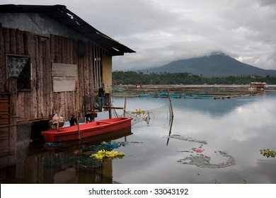 A fishing village in San Pablo city, Philippines