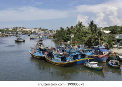 Fishing Village In Viet Nam, Southeast Asia