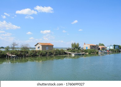 Fishing village in Villeneuve les Maguelone, a seaside resort in the south of Montpellier, Herault, France