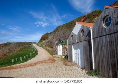 Fishing village of Zambujiem do Mar, Alentejo, Portugal, January 14, 2018