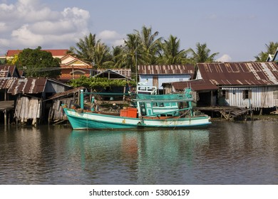 Fishing village.Cambodia.