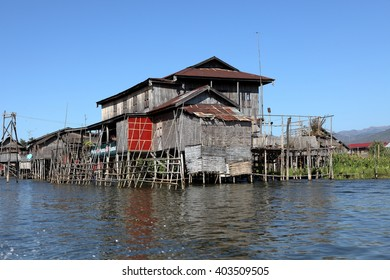 Fishing villages at Inle Lake in Myanmar