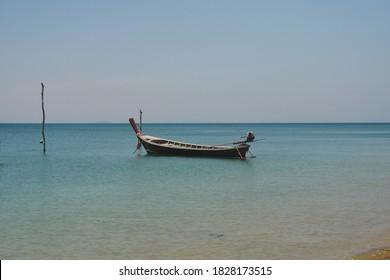 Fishingboat in the see at Thai Lanta, Thailand.