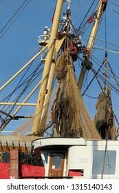 Fishingnets on fishingboat