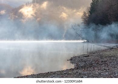 Fishisng at sunrise, Firiza lake