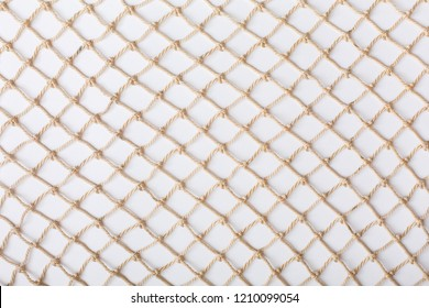 Fishnet on white background. Fishing net. Texture fish