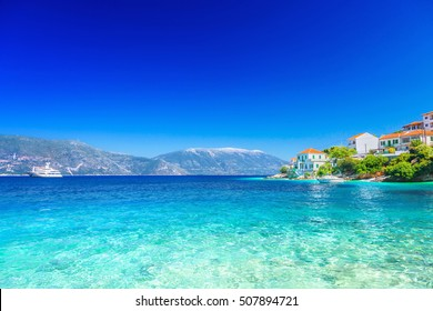 Fiskardo village, Kefalonia island, Greece