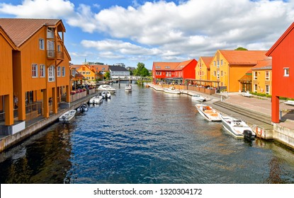 Fiskebrygga district in Kristiansand, Norway