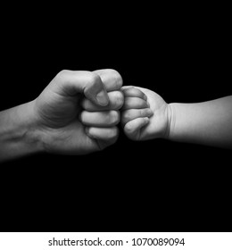 fist bump - father and son