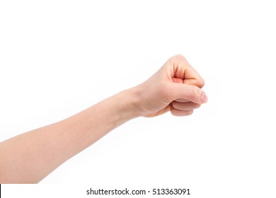 fist punching up isolated, hand gesture concept of violence, force, aggression, protest, attack, revolution, conflict, fighting
