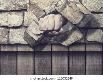 Fist through the Brick Wall