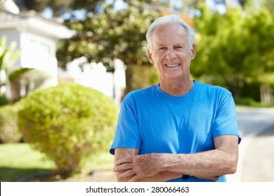 Fit, active, elderly man outdoors