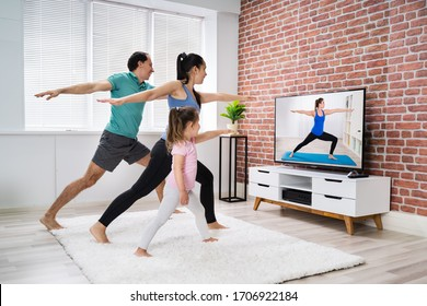 Fit Family Home Online Stretching Yoga Fitness Übung