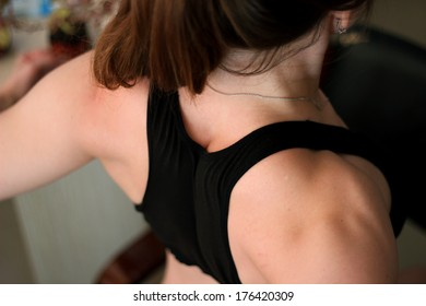 Fit girl back and shoulders