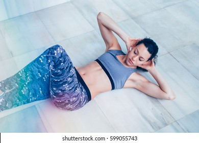 Fit and healthy personal trainer working out