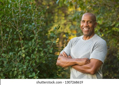 Fit mature African American man.