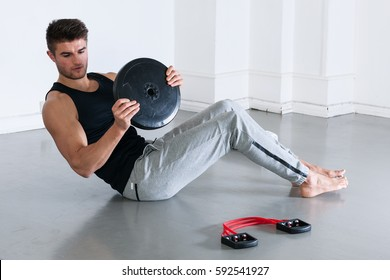 Fit, muscular male body, stock picture