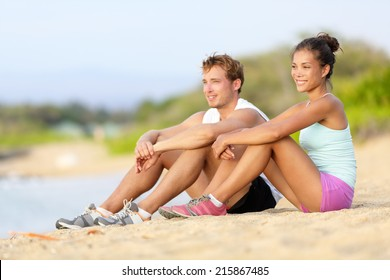 Fit sport fitness couple living healthy active lifestyle.