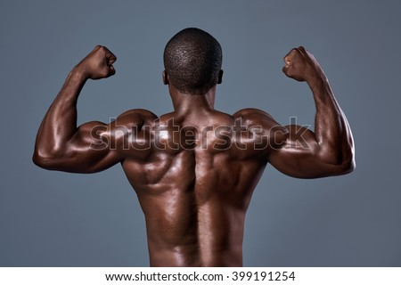 Sexy black men with muscles