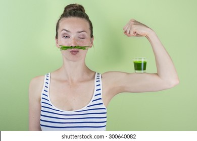Fit and strong with wheat grass juice