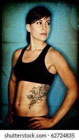 Fit textured bodybuilder background