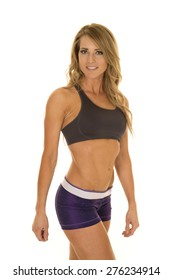 A fit woman showing off her toned and fit body.