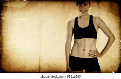 Fit woman - textured