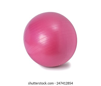 fitness ball isolated on white background