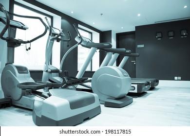 Fitness club in luxury hotel