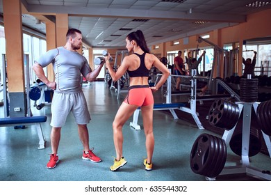 Fitness - concept of healthy lifestyle. Perfect fitness body.