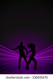 Fitness or dance poster background with space