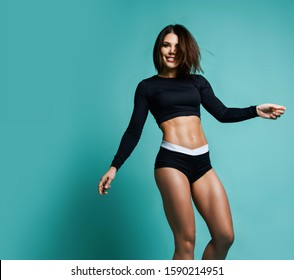 Fit Woman Belly Images Stock Photos Vectors Shutterstock Turns out, some of the fittest women have a whole lot in common. https www shutterstock com image photo fitness diet concept portrait happy woman 1590214951
