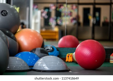 Fitness equipment, ball, steel ball Always seen by the gym, Fitness. This helps the body to have good health.