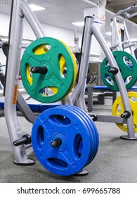Fitness equipment in a fitness hall