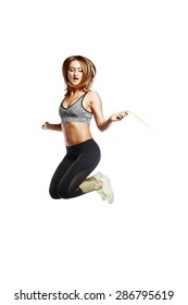 fitness girl with great body doing exercise