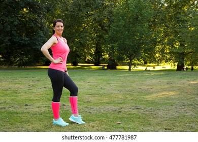 fitness girl in the park
